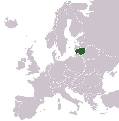 Locationlithuaniaineurope large map