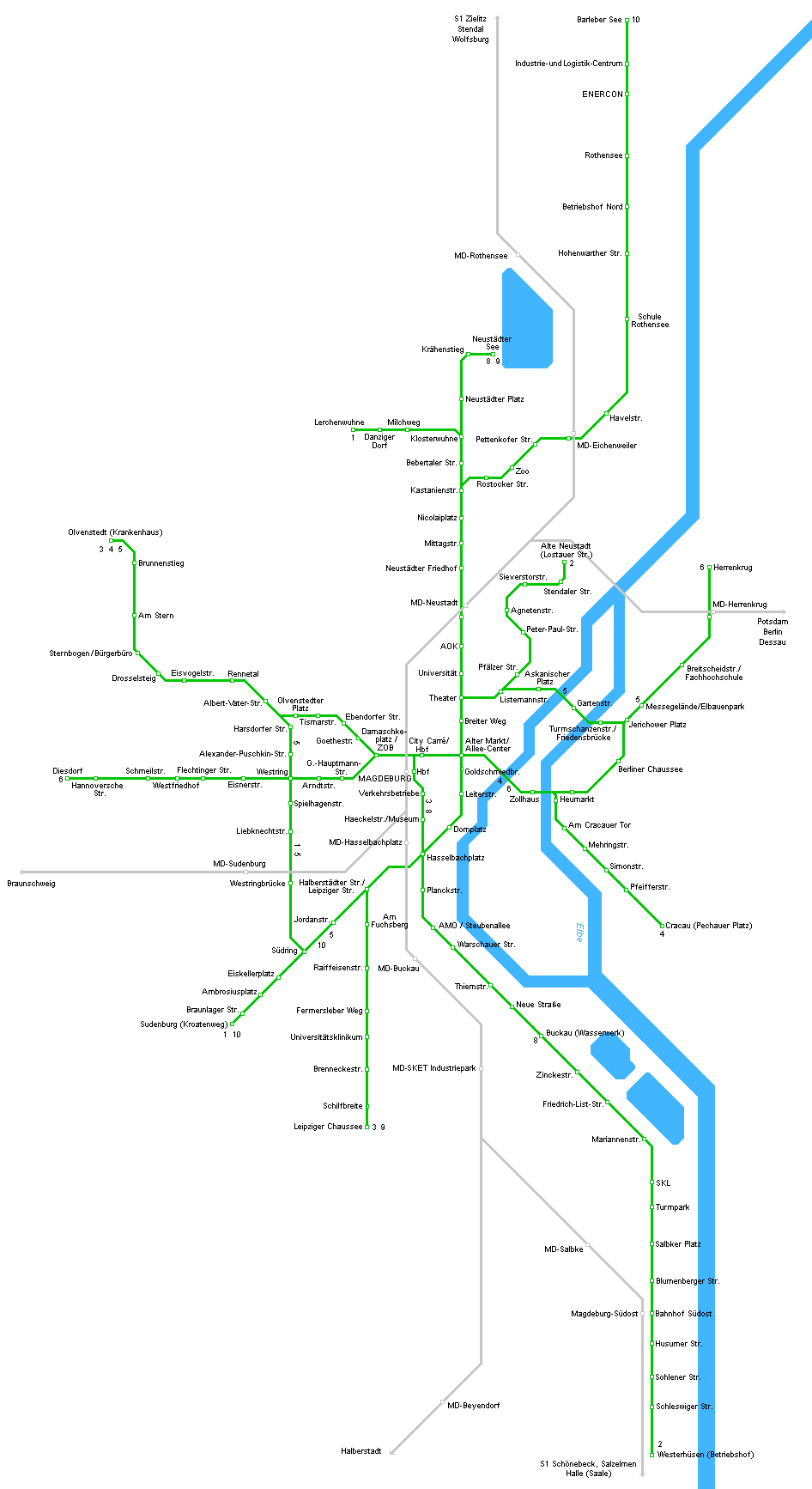magdeburg metro map. Black Bedroom Furniture Sets. Home Design Ideas