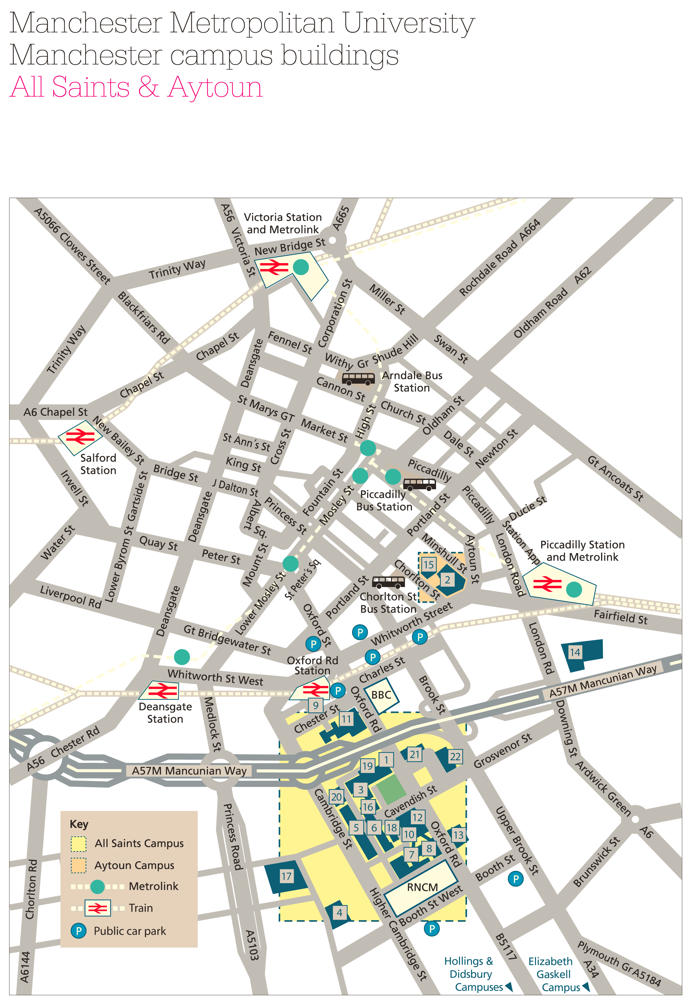 Manchester Metropolitan University Campus Map 1  Mapsof