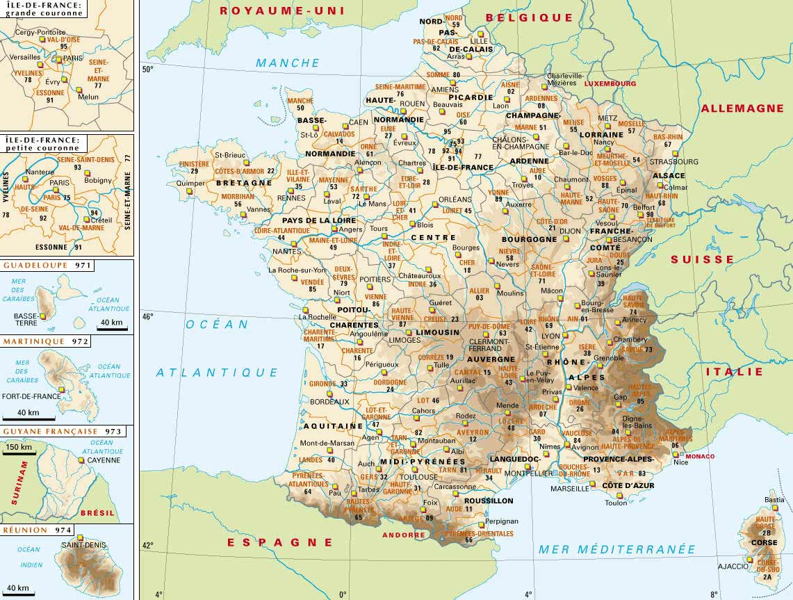 Map France Detail • Mapsof.net