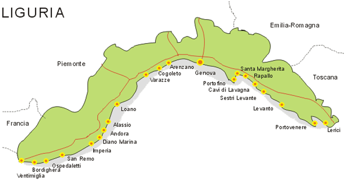 Map Liguria Mapsofnet
