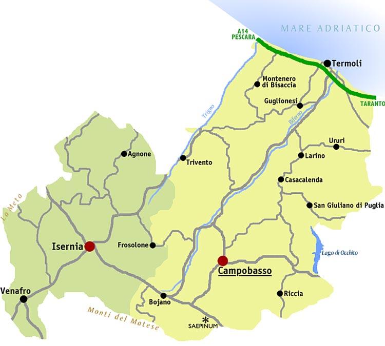 Map Molise large map