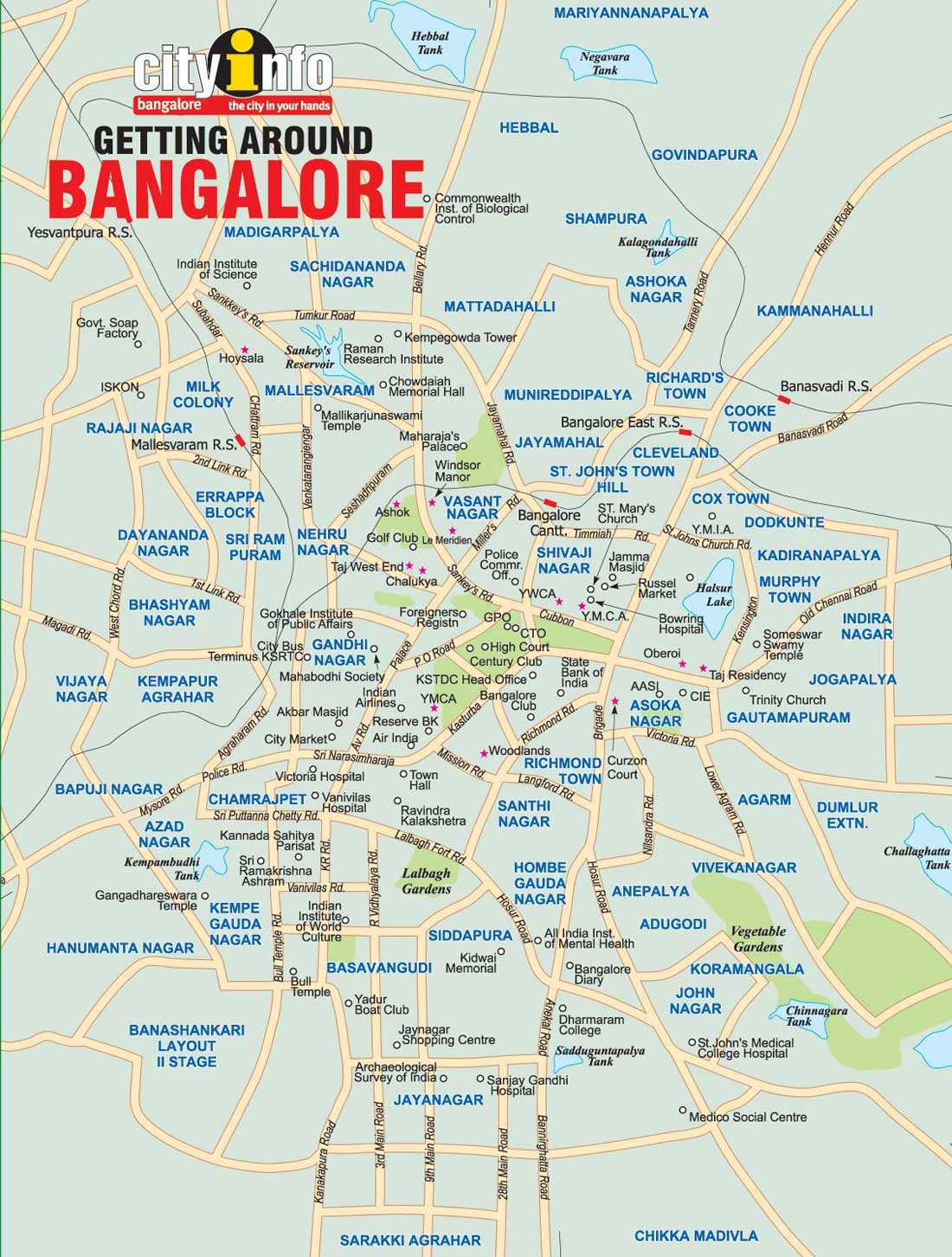 Bhopal maps. Click on the Map of Bangalore to view it full screen
