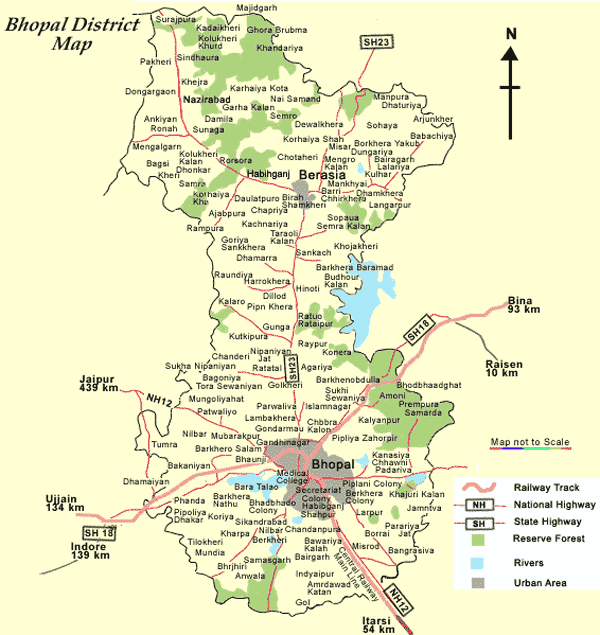 Map of Bhopal large map