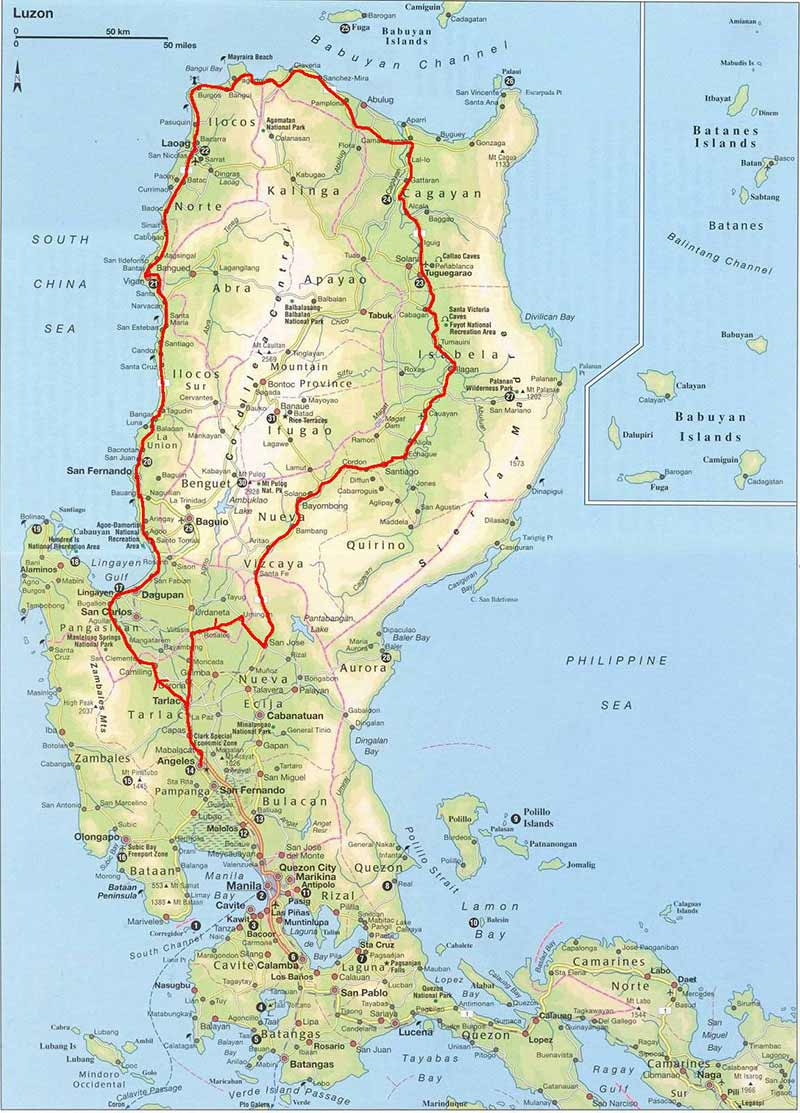 Map of Luzon 1 large map