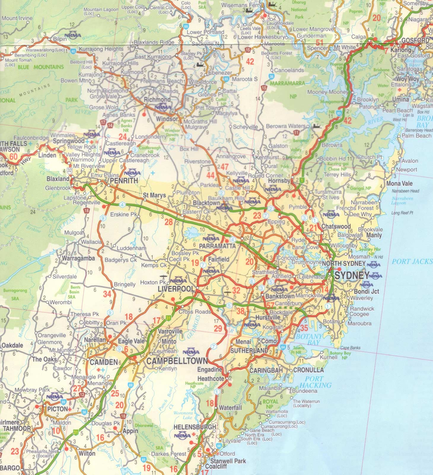Map of Sydney - Mapsof.net SYDNEY MAP