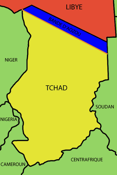 Map of Aouzou Stip Chadfr large map
