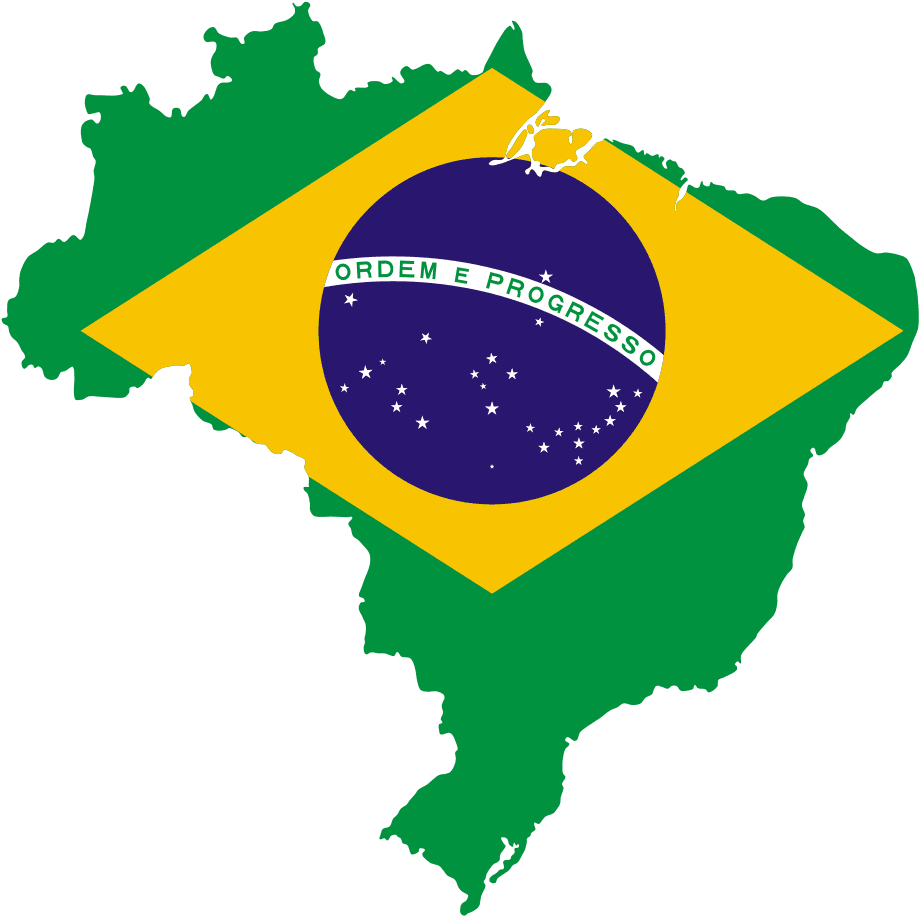 Map of Brazil With Flag  Brazil maps
