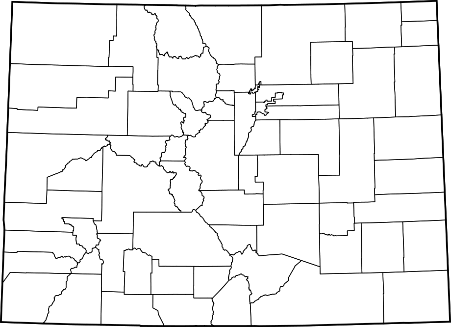 Map Of Colorado Counties Blank Mapsofnet - Colorado county map