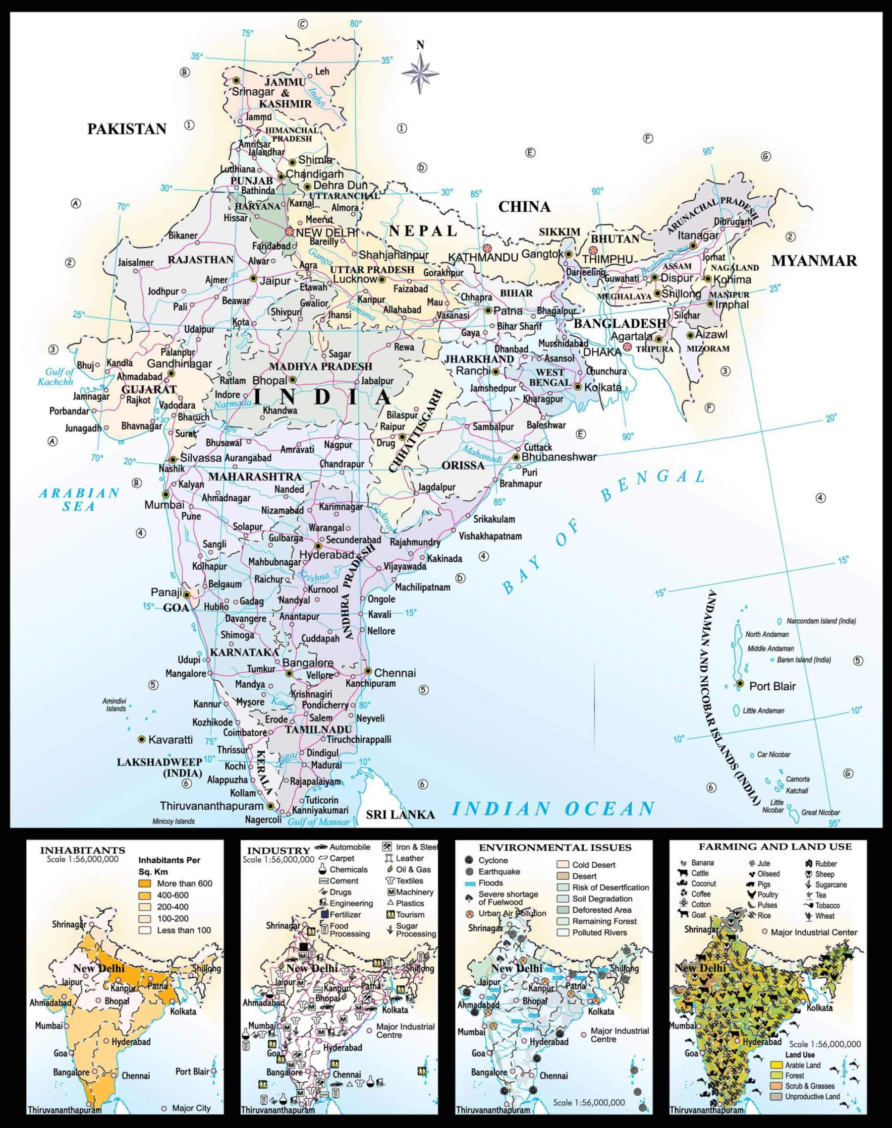 Map Of India Mapsof Net