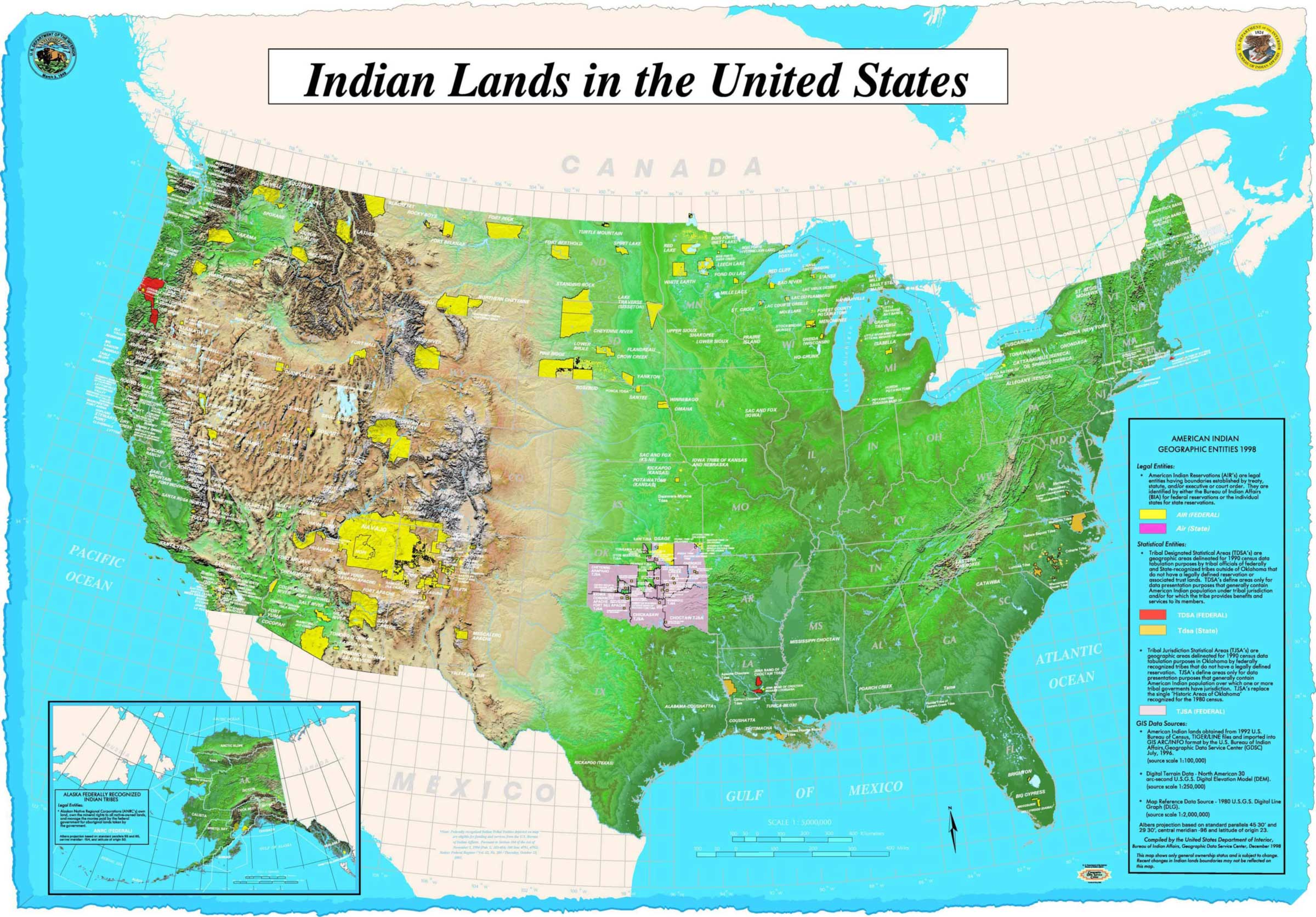Map Of Indian Lands In Us Mapsofnet - Map of indian lands in the us