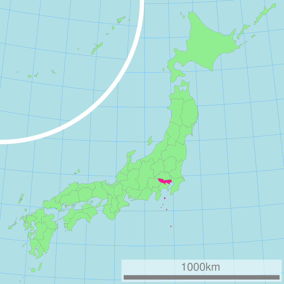 Map Of Japan With Highlight On 13 Tokyo Prefecture Mapsof Net