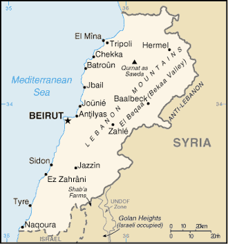 Map of Lebanon large map