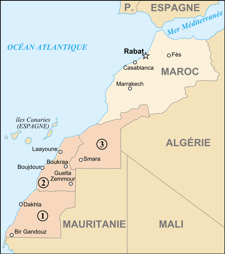 Map of Morocco And Western Sahara Fr Mapsofnet