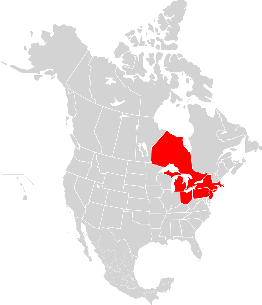 Map of North America Blackout 2003 Mapsofnet