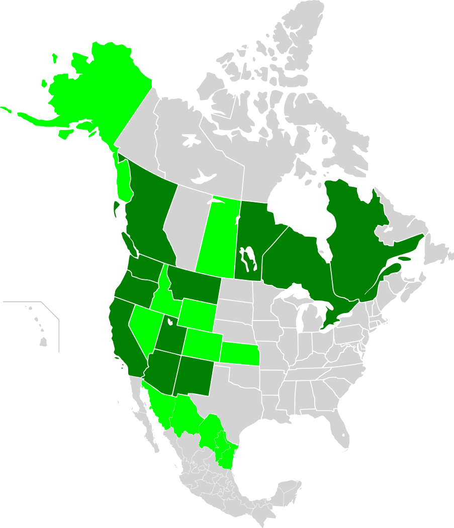 Map of North America, Wrcai Members