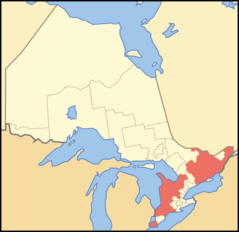 Map of Ontario Counties large map