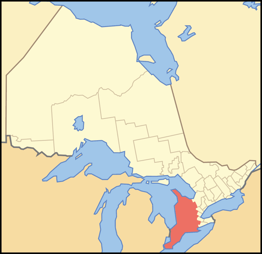 Map of Ontario Southwestern large map