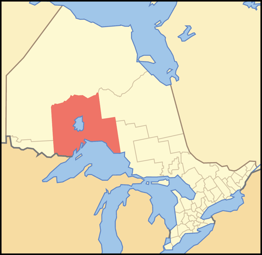 Map of Ontario Thunder Bay large map