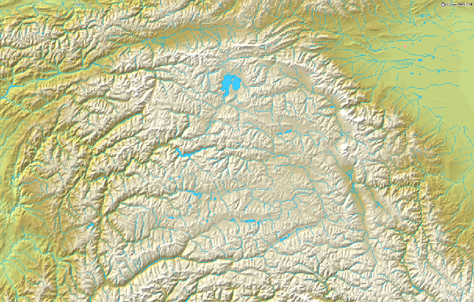 Map of Pamir Demis large map