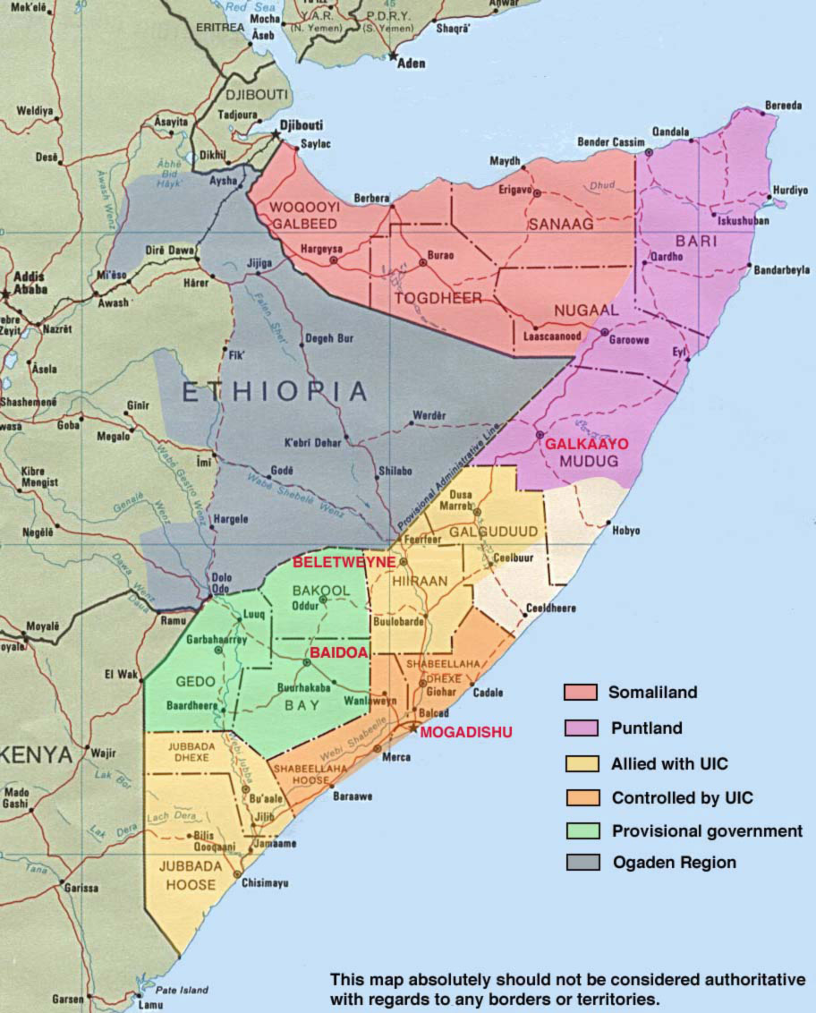Map of Somalia • Mapsof.net