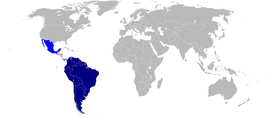 Map Of The Union Of South American Nations Mapsof Net