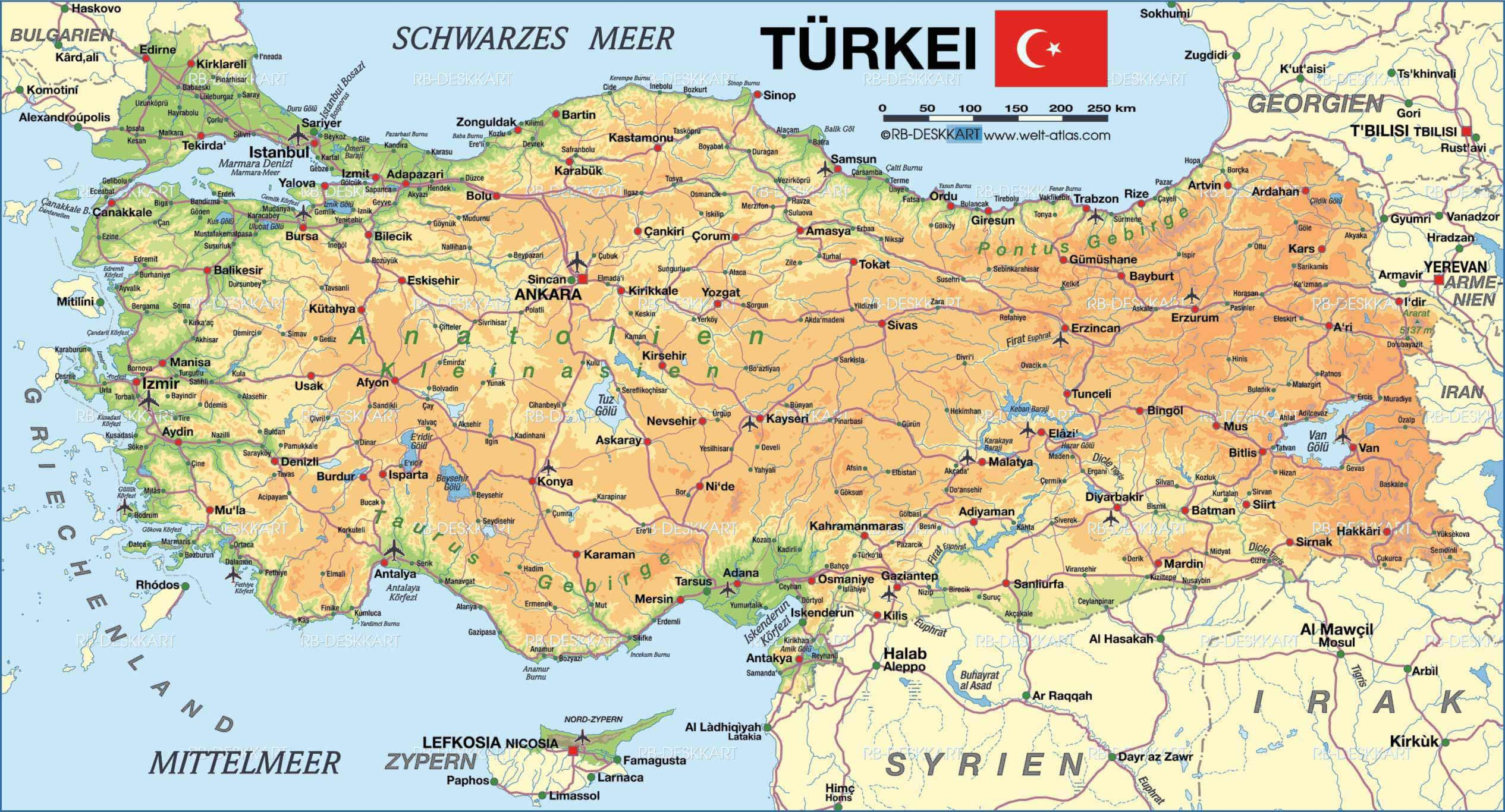 Map of Turkey Mapsofnet