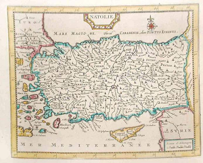 Map of Turkey And Cyprus large map