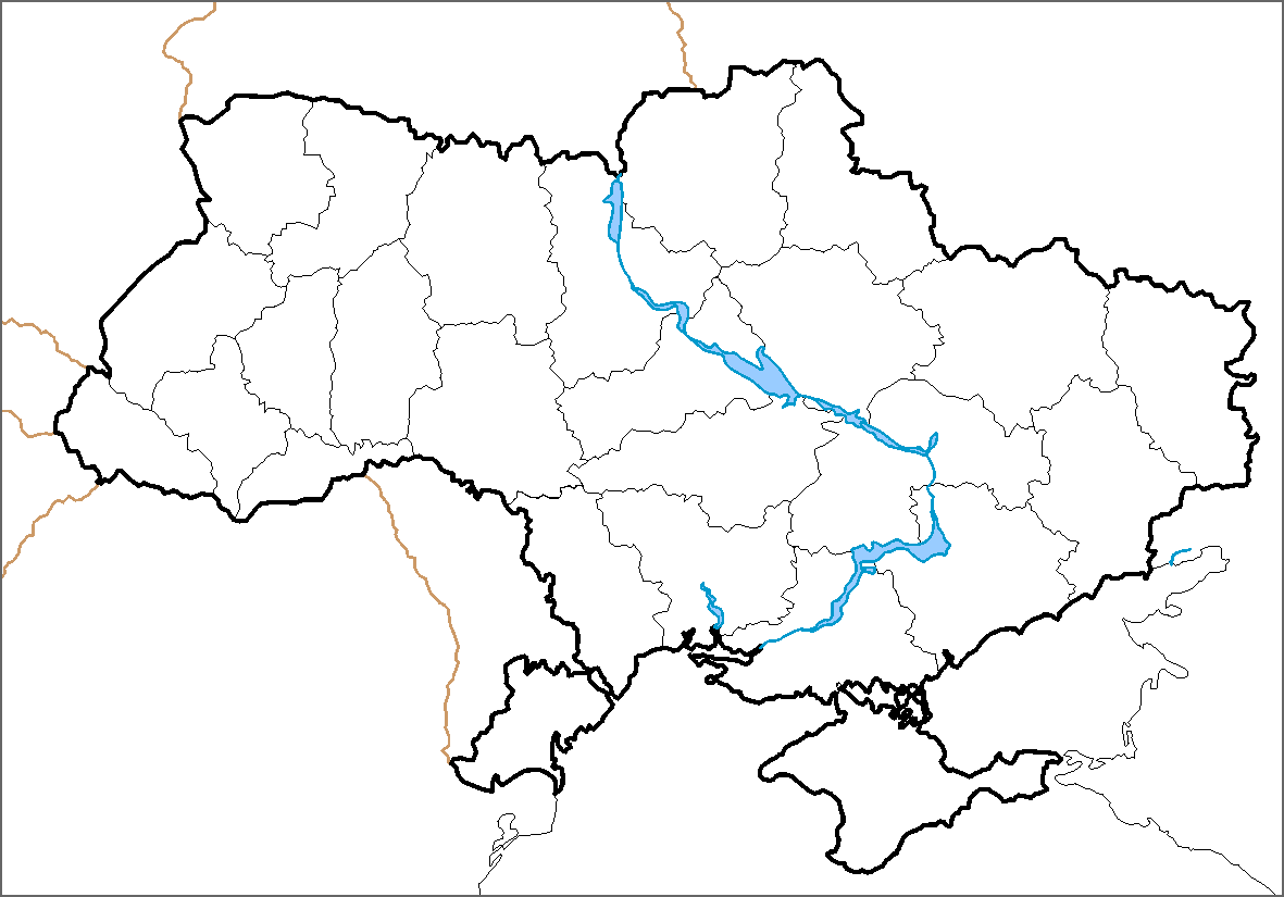 Click On The Map Of Ukraine Political Simple Blank ...  Blank Road Map