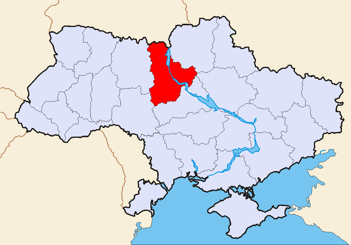 Map of Ukraine Political Simple Oblast Kiew large map
