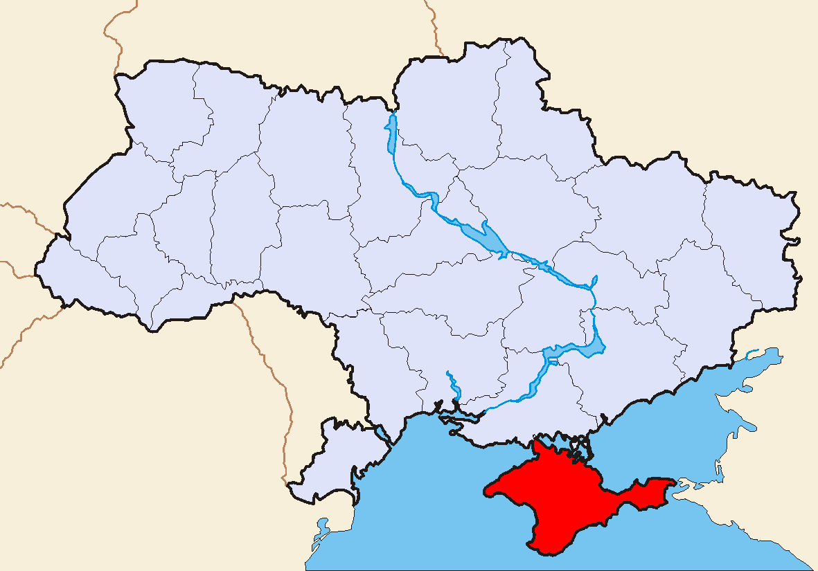 Map of Ukraine Political Simple Oblast Krim