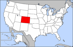 Map of Usa Highlighting Colorado large map