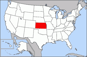 Map Of Usa Highlighting Kansas Mapsofnet - Photo of usa map