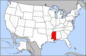 Map Of Usa Highlighting Mississippi Mapsofnet - Map of usa mississippi