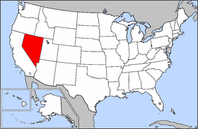 Map of Usa Highlighting Nevada large map