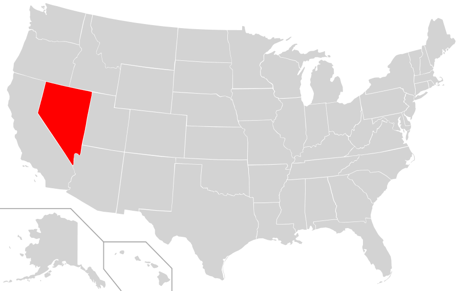 Nevada Location On The US Map Where Is Nevada Location Map Of - Nevada on us map