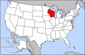 Map Of Usa Highlighting Wisconsin Mapsofnet - Wisconsin map usa