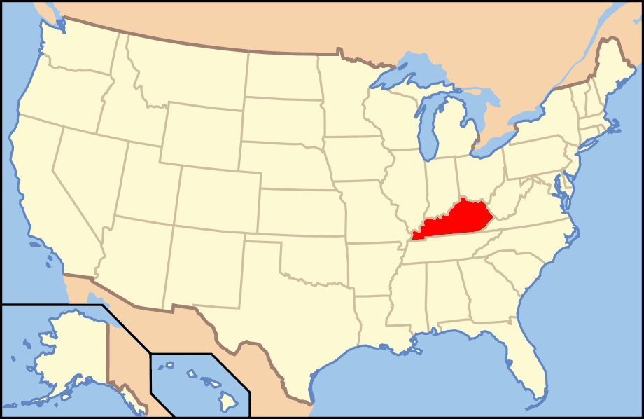 Map of Usa Ky large map