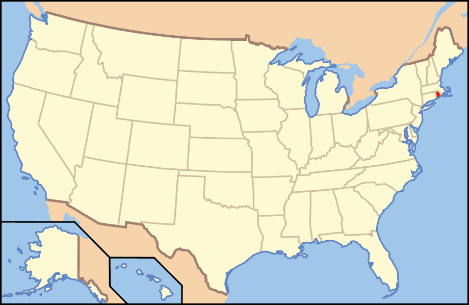 Map Of Usa Ri Mapsofnet - Rhode island on the us map