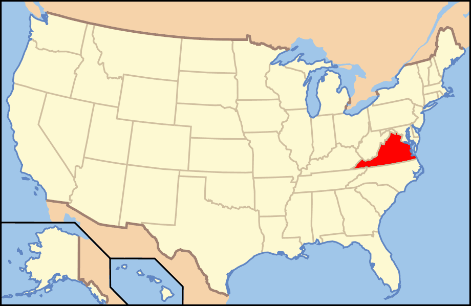Map Of Usa Va  Mapsof