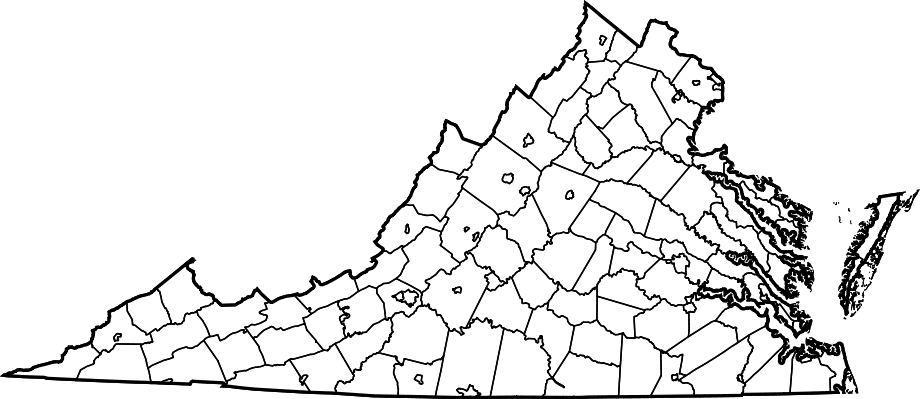 map of alabama cities and counties. Map Of Virginia Counties And