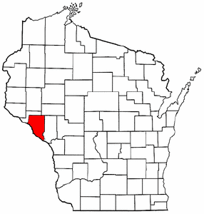Map of Wisconsin Highlighting Buffalo County large map