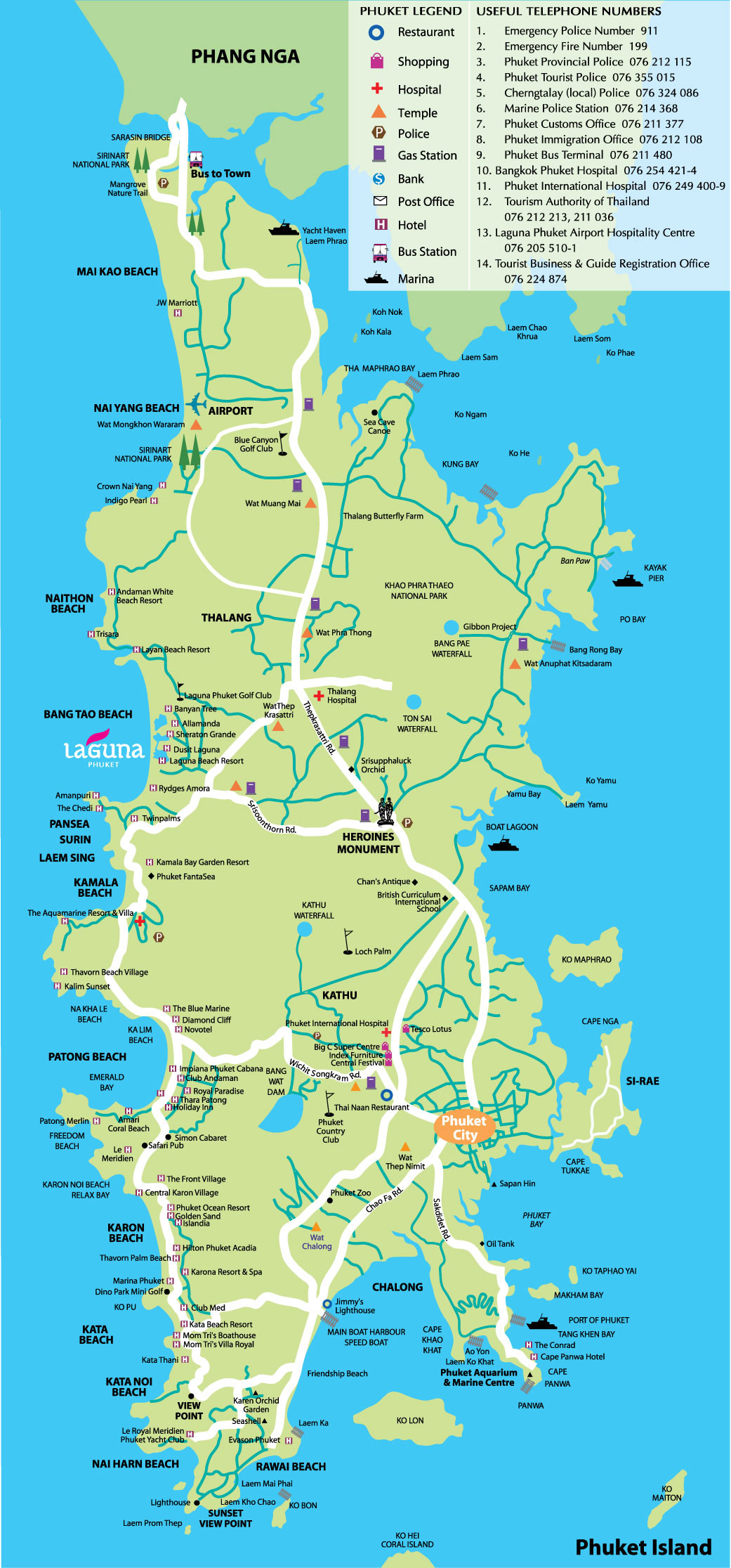 Map Phuket Large Mapsofnet