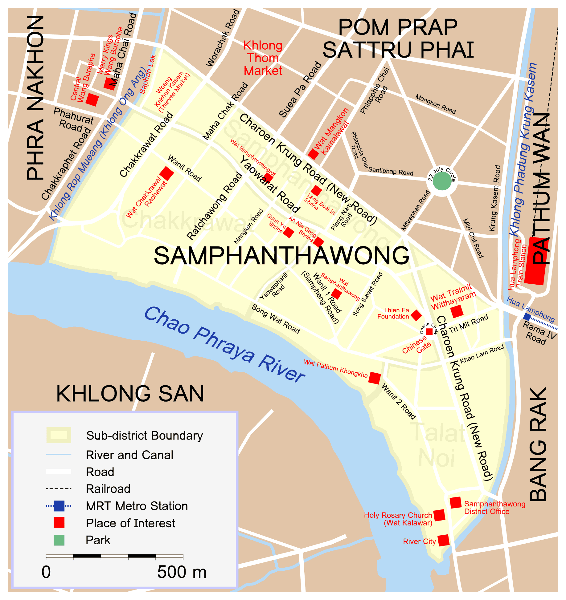Map Samphanthawong