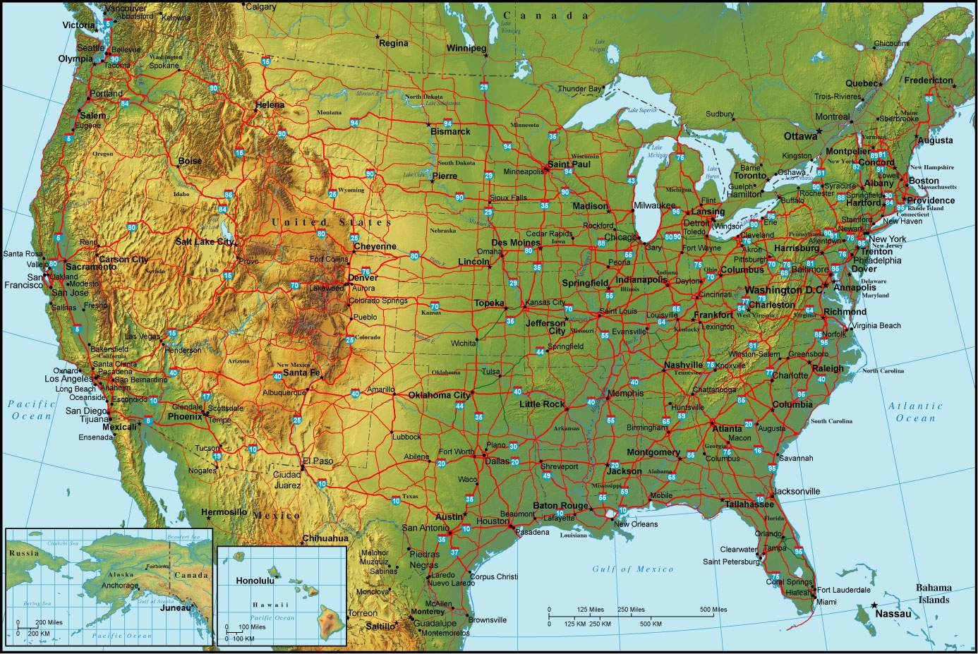 Maps Northeast Usa Map United States - Us map with nountains