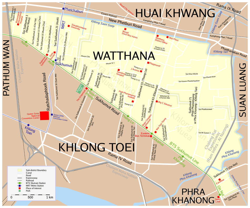 Map Watthana