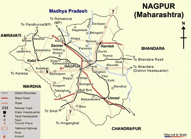 nagpur city road map Maps Of Nagpur Mapsof Net nagpur city road map