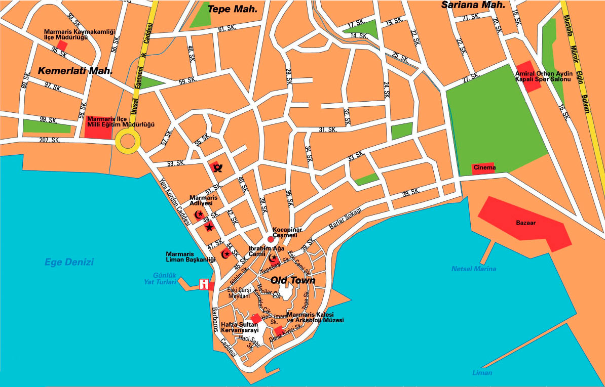 Marmaris City Map Mapsofnet