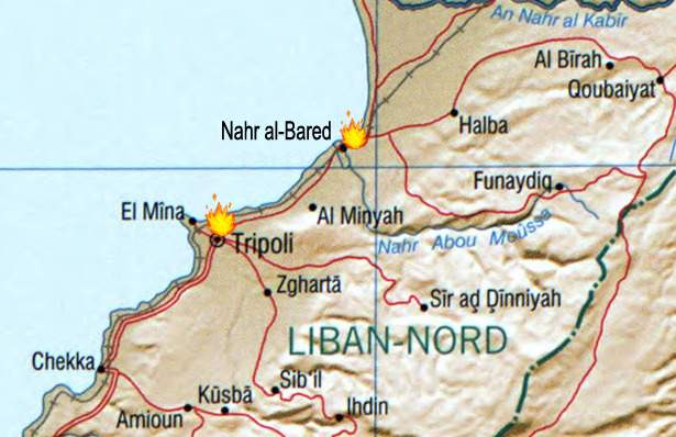 May 2007 Lebanon Fighting large map