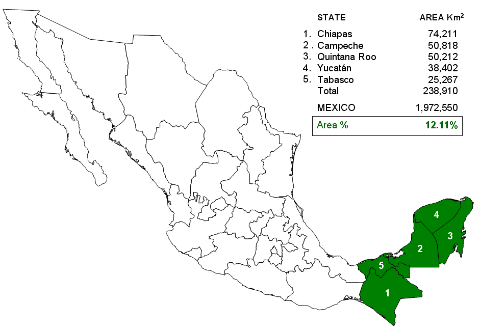 Mexico East Tehuantepec States Mapsofnet – East Mexico Map